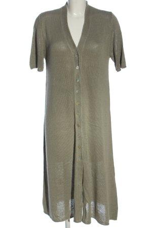 Zara Robe en maille tricotées kaki style décontracté
