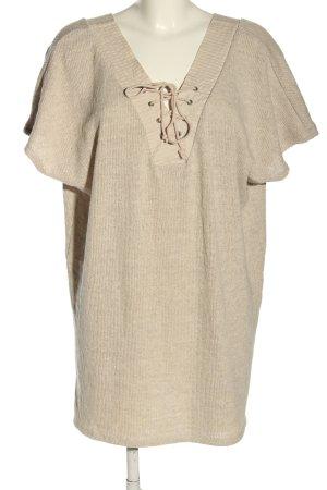 Zara Strickkleid creme Casual-Look
