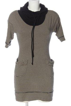 Zara Strickkleid schwarz-wollweiß Streifenmuster Casual-Look