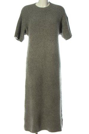 Zara Abito di maglia grigio chiaro stile casual