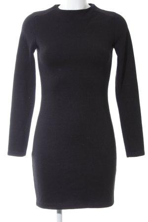 Zara Abito di maglia nero stile casual