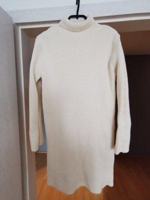 Zara Sukienka z dzianiny w kolorze białej wełny-kremowy