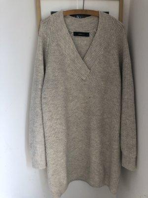 Zara Strickkleid Wollkleid Kleid beige M 38 top Zustand