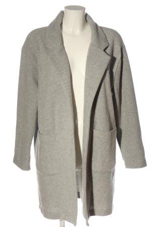 Zara Cappotto a maglia grigio chiaro puntinato stile casual