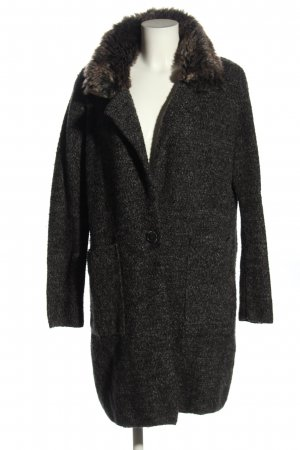 Zara Gebreide jas zwart casual uitstraling