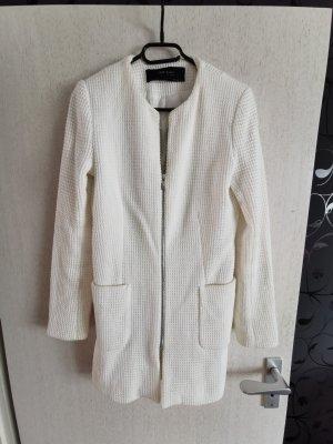 Zara Cappotto a maglia bianco