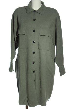 Zara Płaszcz z dzianiny khaki W stylu biznesowym