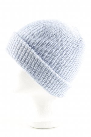 Zara Strickmütze blau Zopfmuster Casual-Look