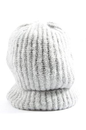 Zara Cappello a maglia grigio chiaro stile casual