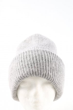 Zara Chapeau en tricot gris clair style décontracté
