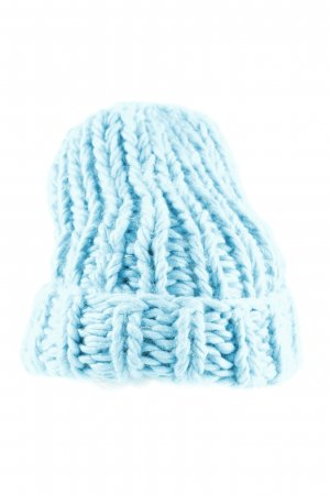 Zara Knitted Hat turquoise cable stitch casual look