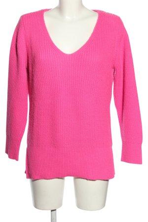 Zara Strickpullover pink Zopfmuster Casual-Look