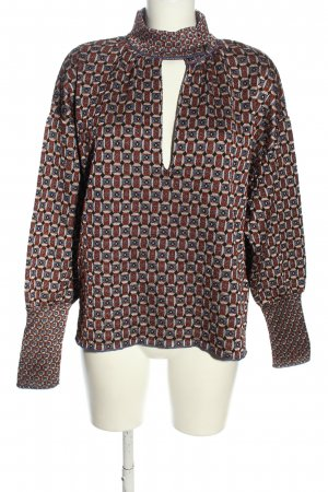 Zara Strickpullover grafisches Muster Casual-Look