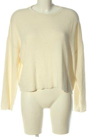 Zara Maglione lavorato a maglia bianco sporco stile casual