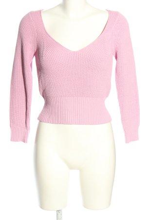 Zara Strickpullover pink Casual-Look