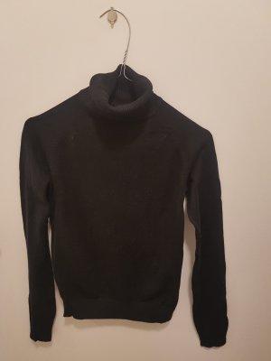 Zara Cienki sweter z dzianiny czarny