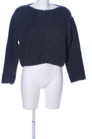 Zara Strickpullover blau Zopfmuster Casual-Look