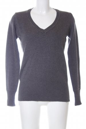 Zara Strickpullover hellgrau meliert Business-Look