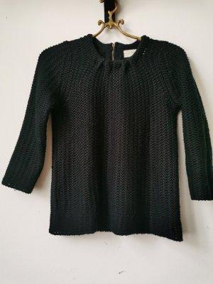 Zara Knit Pull en laine noir-argenté