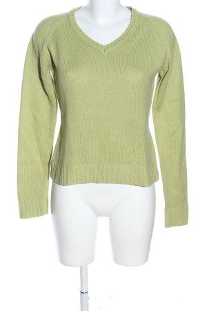 Zara Strickpullover grün Casual-Look