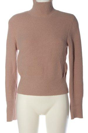 Zara Pull tricoté rose chair torsades style décontracté