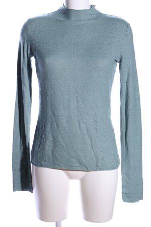 Zara Strickpullover blau meliert Casual-Look