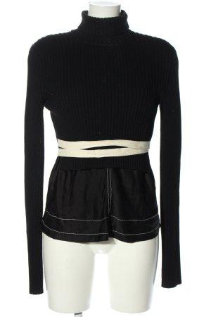 Zara Strickpullover schwarz-weiß Casual-Look