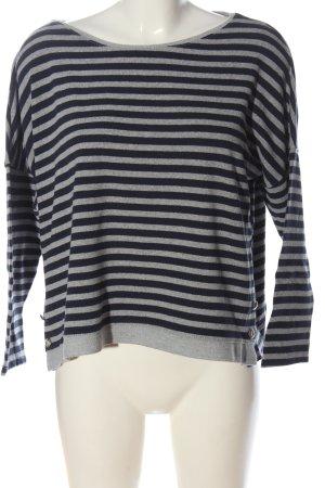 Zara Pull tricoté gris clair-noir imprimé allover style décontracté