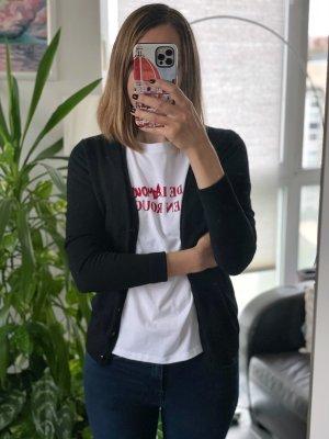 Zara Strickpullover Jacke Cardigan Schwarz Gr.XS