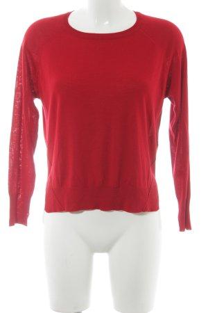 Zara Strickpullover rot schlichter Stil