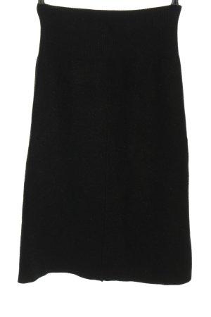 Zara Spódnica z dzianiny czarny W stylu casual