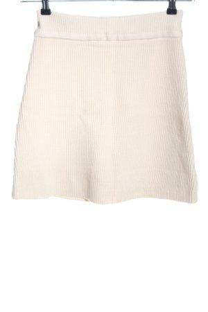 Zara Knitted Skirt cream casual look
