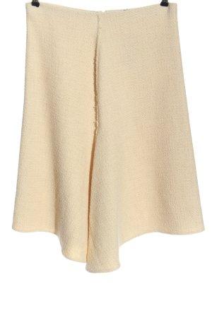 Zara Spódnica z dzianiny kremowy W stylu casual