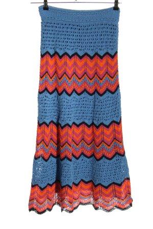 Zara Gebreide rok gestreept patroon casual uitstraling