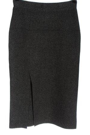 Zara Gebreide rok zwart-wit gestippeld elegant