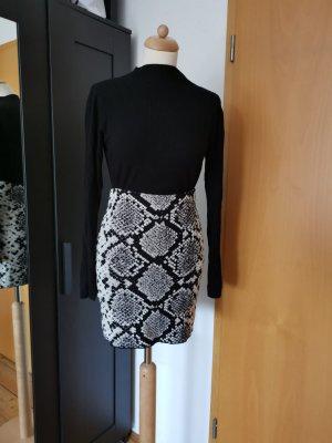 Zara Minifalda negro-gris claro