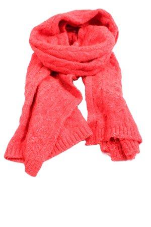 Zara Écharpe en tricot rouge moucheté style décontracté