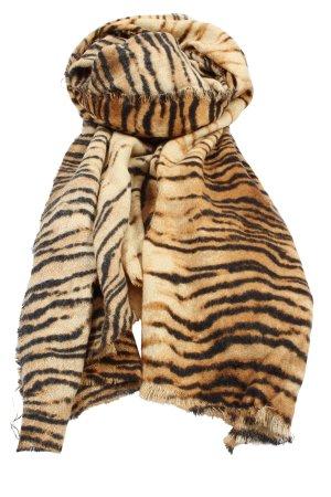 Zara Écharpe en tricot motif animal style décontracté