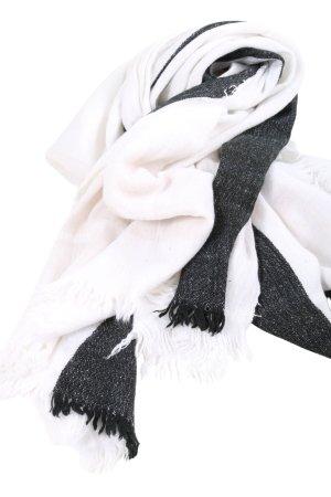 Zara Strickschal weiß-schwarz Casual-Look