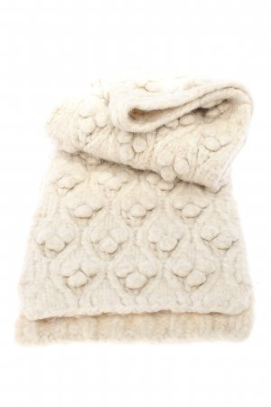 Zara Knitted Scarf cream casual look