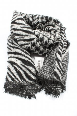 Zara Knitted Scarf white-black allover print casual look