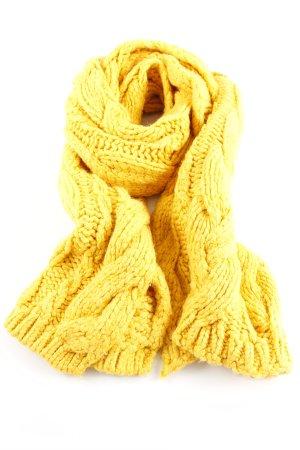 Zara Écharpe en tricot jaune primevère torsades style décontracté