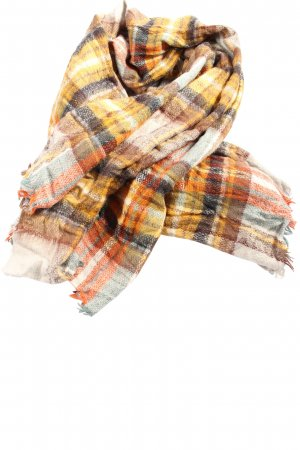 Zara Knitted Scarf check pattern casual look