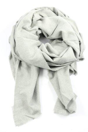 Zara Bufanda de punto gris claro look casual