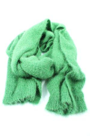 Zara Écharpe en tricot vert style décontracté