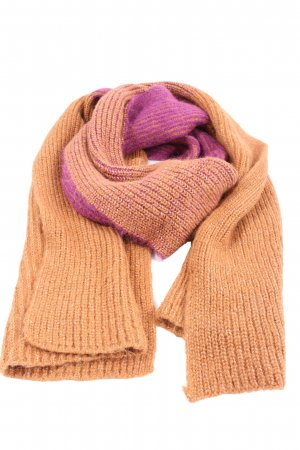 Zara Knitted Scarf light orange-lilac casual look