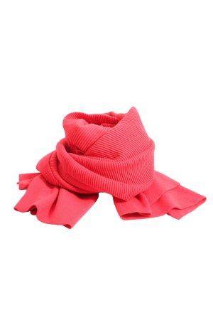 Zara Écharpe en tricot rouge style décontracté