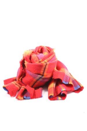 Zara Écharpe en tricot motif à carreaux style décontracté