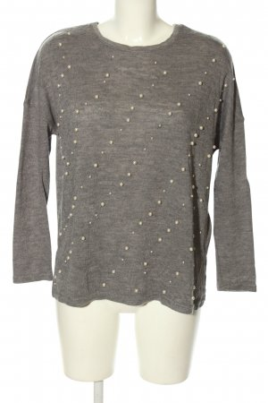 Zara Knitted Jumper light grey flecked casual look