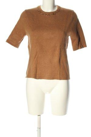 Zara Strickshirt braun Casual-Look